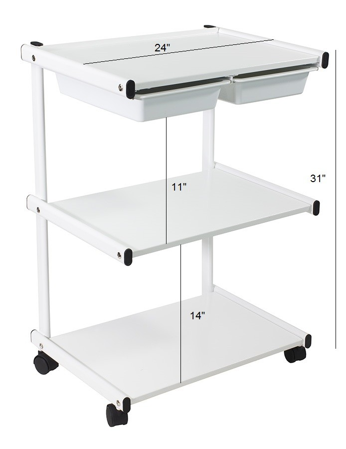 Metal Cart Trolley With Plastic Drawers Trolleys Amp Carts