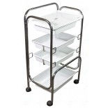 4 Level Plastic Trolley Cart