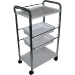4 level plastic trolly cart