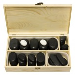 45 PIECE HOT STONE MASSAGE KIT WITH BOX