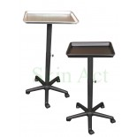 Tray w / Stand and Wheels in Black or Silver